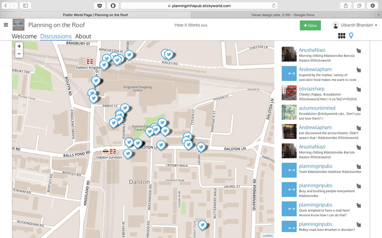 Screen Shot from Neighbourhood Stickers beta test